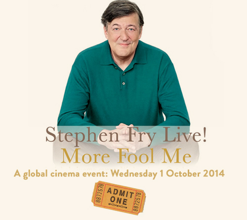 See Stephen Fry Live - Global Cinema Event