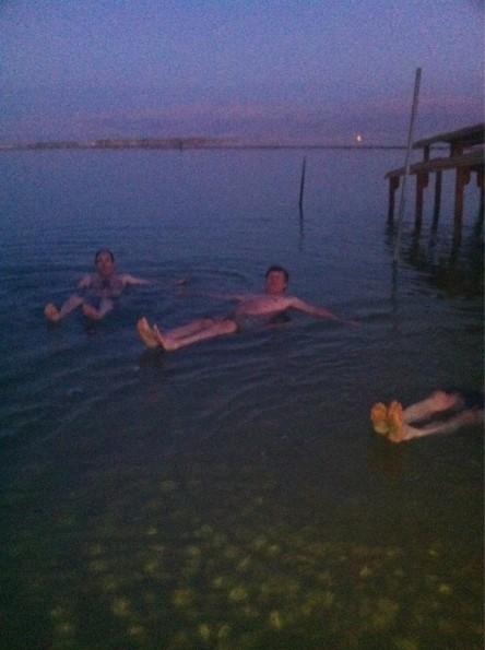 Got to the Dead Sea as the light was...