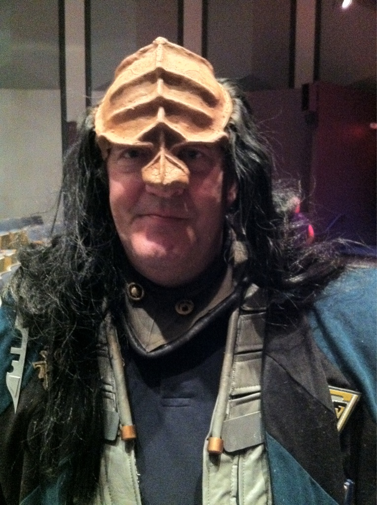 Me as a Klingon looking strangely...