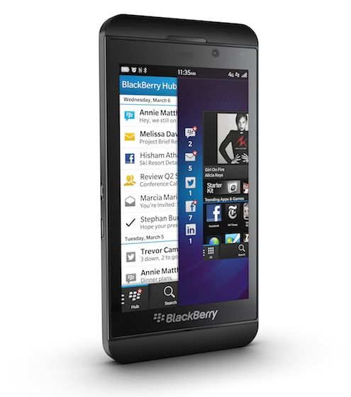 Z10 in gorgeous black. © Blackberry 2013